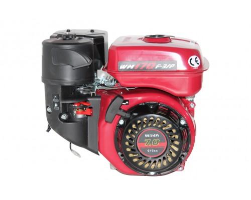 Двигатель бензиновый Weima WM170F-3 (R) New (1800об/мин, шпонка, редуктор шестеренчатый, 7 л.с.)