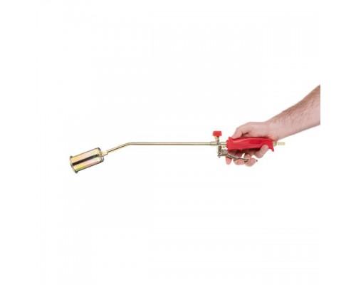 Горелка газовая с регулятором и клапаном 595мм, сопло 110мм, Ø45мм. INTERTOOL GB-0044