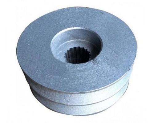 Шкив на ВОМ WEIMA610 (мелкий шлиц, диаметр 90 мм, 2 ручья типа В)