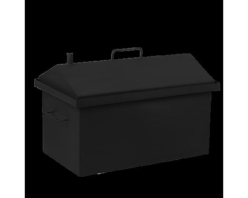 Коптильня горячего копчения Дид Коптенко средняя с крышкой домиком и покраской (590хШ360хВ390)