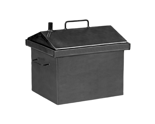 Коптильня горячего копчения Дид Коптенко малая с крышкой домиком (380X320X360)