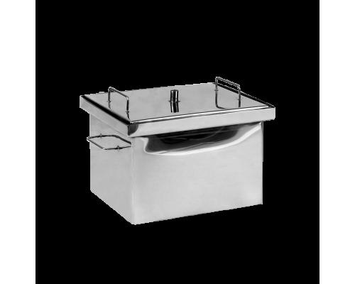 Коптильня горячего копчения Дид Коптенко малая из нержавейки (380x320x300)