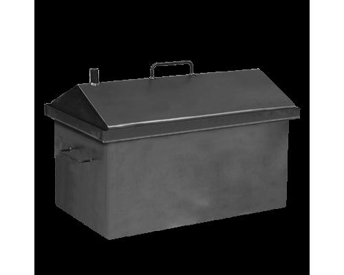 Коптильня горячего копчения Дид Коптенко средняя с крышкой домиком (590x360x390)