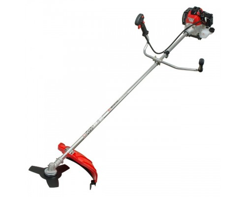 Мотокоса 1.5 кВт/2 л.с., 43 см³, катушка, 3-х лопастной нож, фреза 40 зубъев, двухплечевой ранцевый ремень INTERTOOL DT-2232