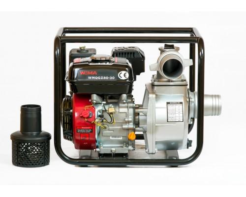 Мотопомпа бензиновая WEIMA WMQGZ80-30 (80 мм, 60 куб.м/час)