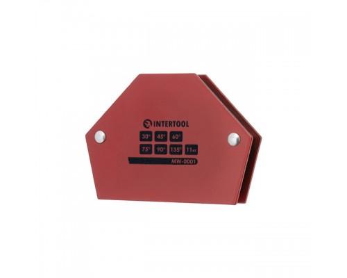Держатель магнитный для сварки трапеция, 30°, 45°, 60°, 75°, 90°, 135°, 11 кг, 100×68×14 мм INTERTOOL MW-0001