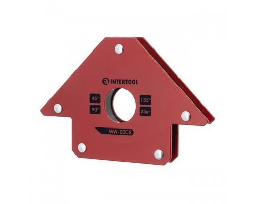 Держатель магнитный для сварки стрела, 45°, 90°,135°, 23 кг, 90×100×17 мм INTERTOOL MW-0005
