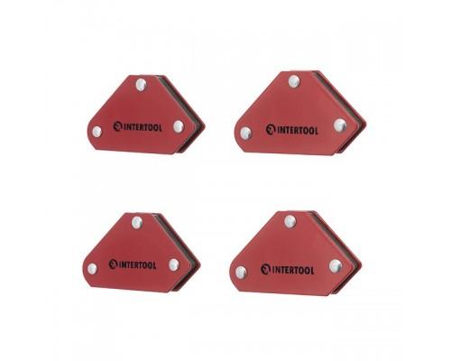 Набор держателей магнитных для сварки 4 шт, 45°, 90°,135°, 4 кг, 53х37х47х7 мм INTERTOOL MW-0008