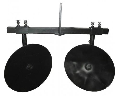 """Окучник дисковый Ø360 регулируемый на двойной сцепке """"Премиум"""""""