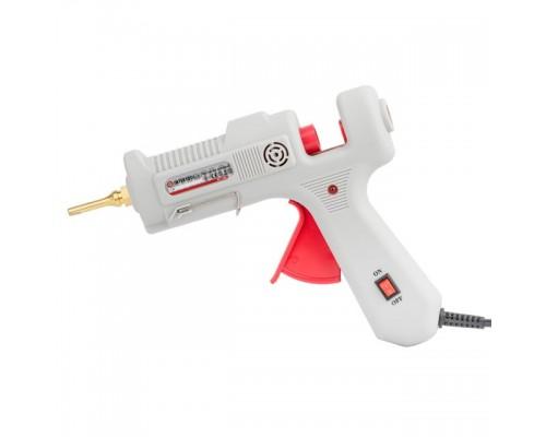 Пистолет клеевой 90 (290) Вт, 230 В, 215-230°C под стержни 10.8-11.5мм, 13-30 г/мин., удлин. сопло, выключатель. INTERTOOL RT-1105