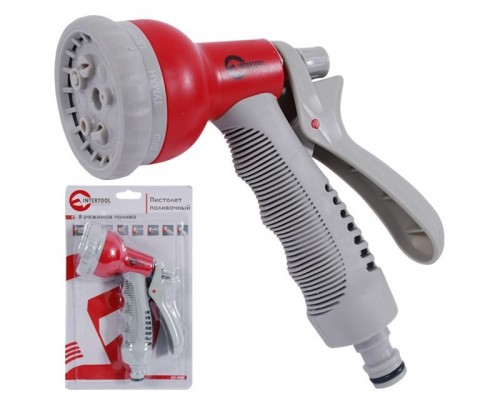 Пистолет-распылитель для полива, 8 функций INTERTOOL GE-0001