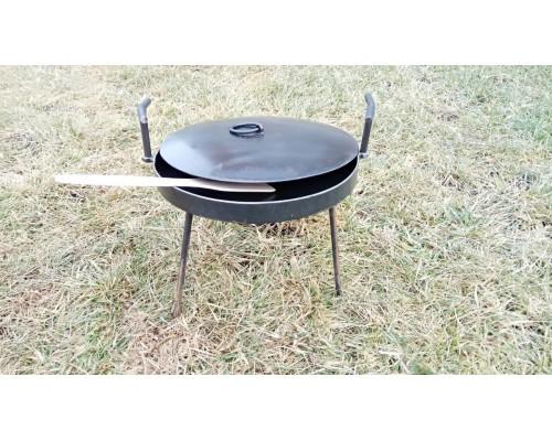 Сковорода из диска 30 см с крышкой для пикника