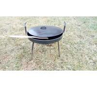 Сковорода из диска 40 см с крышкой для пикника