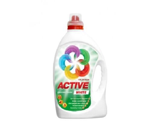 Гель для прання Active White 3л
