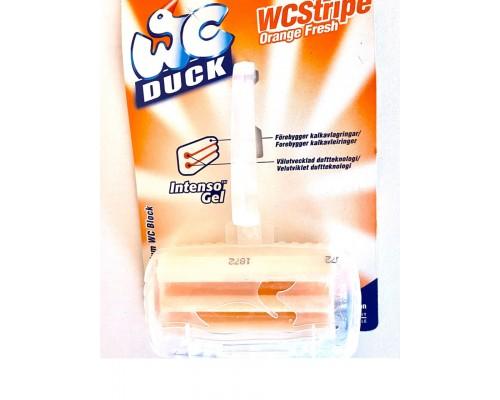 Туалетный Утенок твердый подвесной очиститель для унитаза orange fresh 50 g