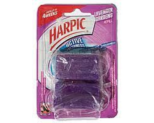 Таблетки для унітазу Harpic lavender 2х35г.