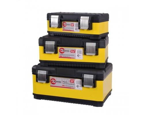 Комплект ящиков для инструментов с металлическими замками, 3 шт INTERTOOL BX-2003